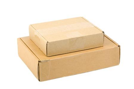 ebay: Open cardboard box isolated on white