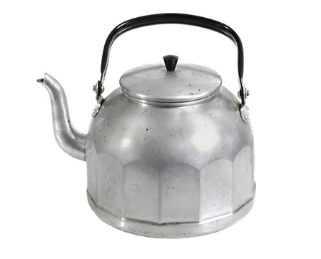 old items: Teapot isolated on white background