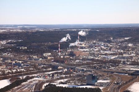 powerplant: Town view of Vilnius from above