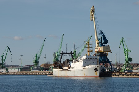 Ships in an industrial dock photo