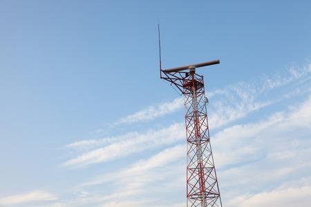 atc: Radar tower against blue sky