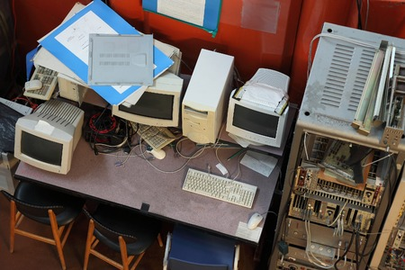 atomic center: Old Computers in a nuclear research facility