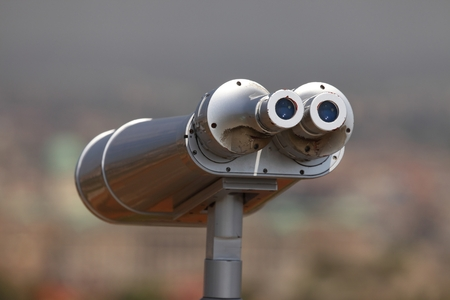 viewpoints: Binoculars at a scenic viewpoint