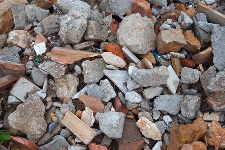 destruct: A pile of broken bricks Stock Photo