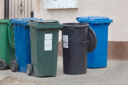 household waste: Household  waste waiting to be taken away