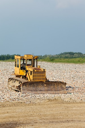 dozer: Old dozer at a construction site