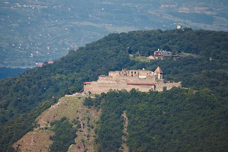 visegrad: Ruined medieval castle in Visegrad, Hungary Stock Photo