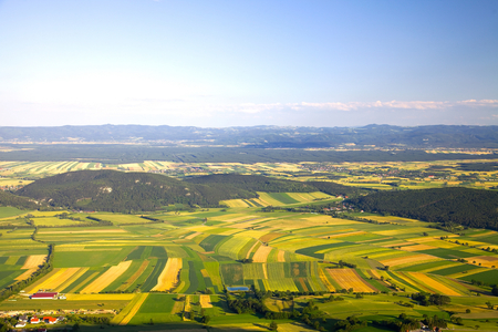 agriculture landscape: Aerial view of agricultural fields