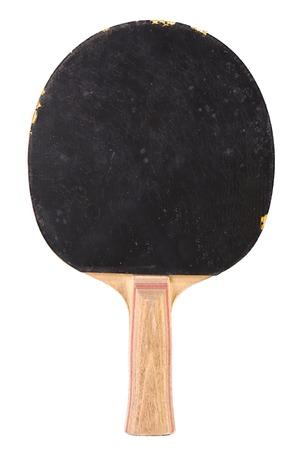 pingpong: tenis de mesa raqueta aislado en fondo blanco