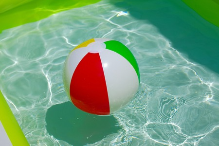 rubber ball: Rubber ball in a swimming pool