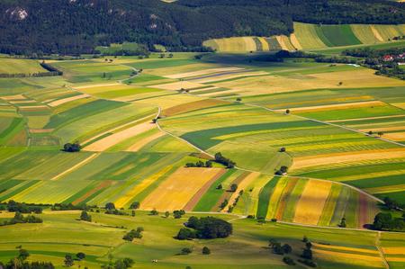 agricultura: Vista a�rea de campos agr�colas