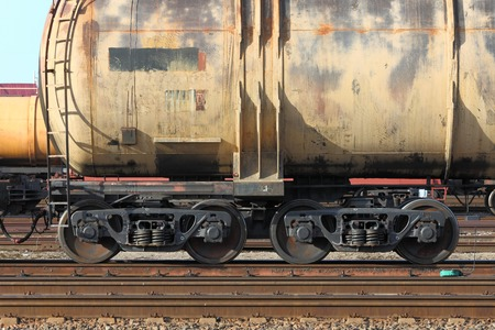 freight train: Freight train passing by with blur Stock Photo