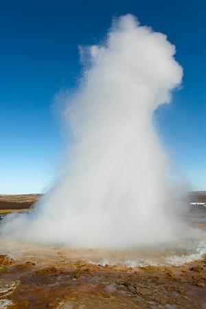 evaporate: Erupting geyser in Iceland, Strokkur