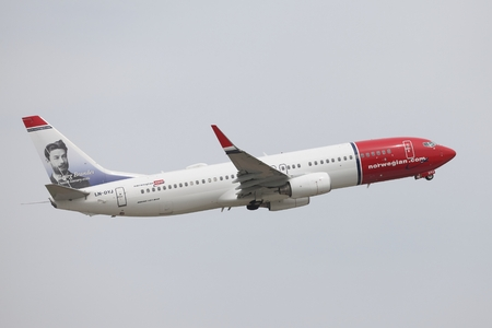 liszt: BUDAPEST, HUNGARY - MAY 7: Airliner of Norwegian air shuttle at Budapest Liszt Ferenc Airport, May 7th 2013. Norwegian is the third largest low-cost carrier in Europe