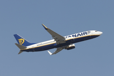 liszt: BUDAPEST, HUNGARY - MAY 12: Airliner of Ryanair taking off at Budapest Liszt Ferenc Airport, May 12th 2014. Ryanair is the largest low-cost carrier in Europe