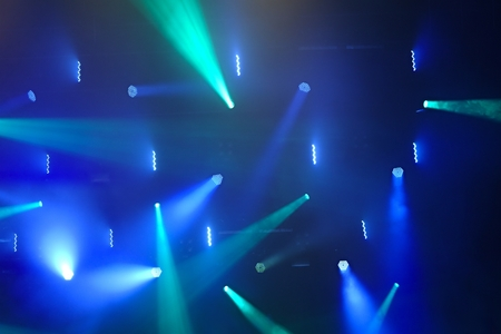 decoraton: Stage lighting at a concert