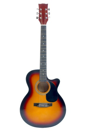 cutaway: Acoustic guitar isolated on white background