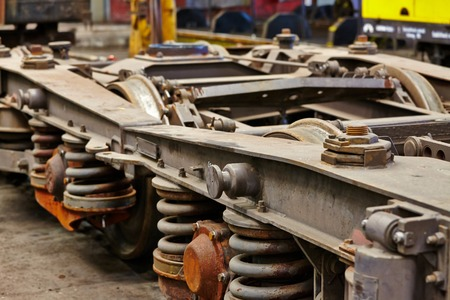 undercarriage: Undercarriage of a railway wagon