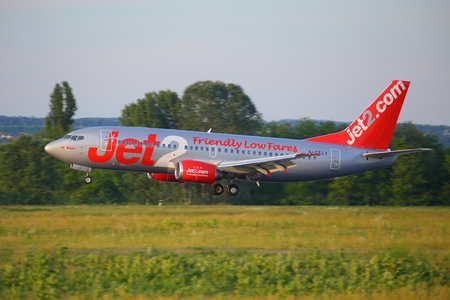 liszt: BUDAPEST, HUNGARY - MAY 27: Airliner of Jet2 at Budapest Liszt Ferenc Airport, May 27th 2015. Jet2.com is low-cost airline based in Leeds, England, opertaing 47 aircrafts. Editorial