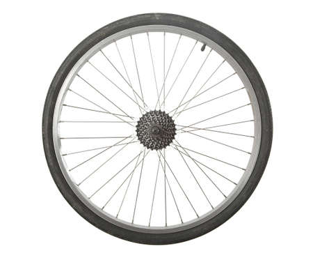 bicycle wheel: Bicycle wheel isolated with transmission gears
