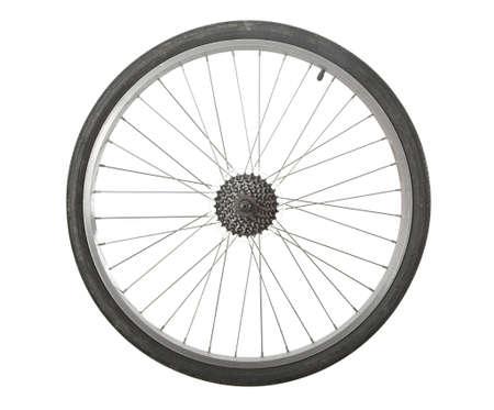 bicyclette: Roue de bicyclette isolé avec des engrenages de transmission