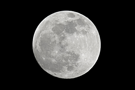 spooky: Full moon shot at 1200mm focal length Stock Photo