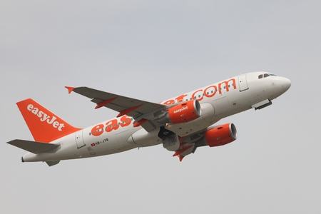 liszt: BUDAPEST, HUNGARY - MAY 4: EasyJet A319 taking off Budapest Liszt Ferenc Airport, May 5th 2015. Easyjet is the second largest low-cost airline of Europe. Editorial