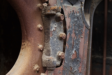 decadence: Rusty piece of metal as industrial background