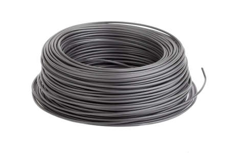 conductor electricity: Roll of black electic wire
