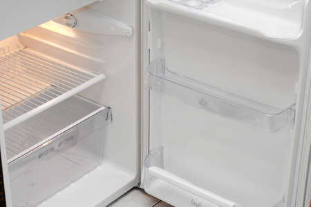 Lack of food - empty refrigerator