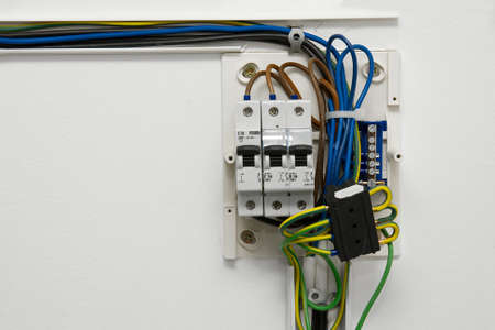 fusebox: Electric wireing and fusebox in a house