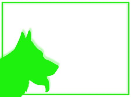 Dog portrait in silhouette for this dog frame Stock Photo - 4609770