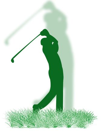 coordination: Golfer playing golf on the colorful grass