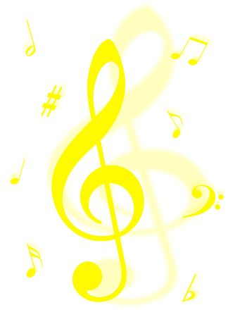 analogical: Music symbols, signs and notes to represent musical world Stock Photo