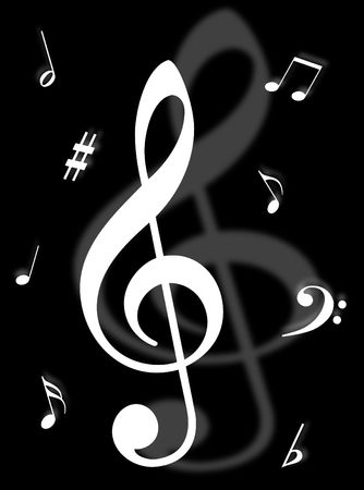 Music symbols, signs and notes to represent musical world Stock Photo - 4920376