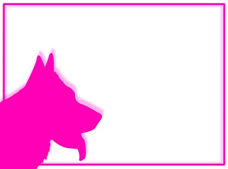 wag: Dog portrait in silhouette for this dog frame