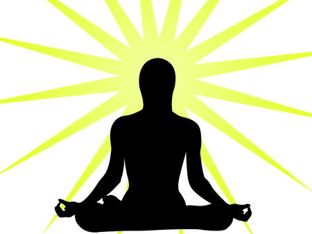 Yoga expression in the sun as symbol of spiruality