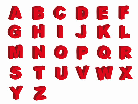Alphabet letters in silhouette as symbol of language Vector