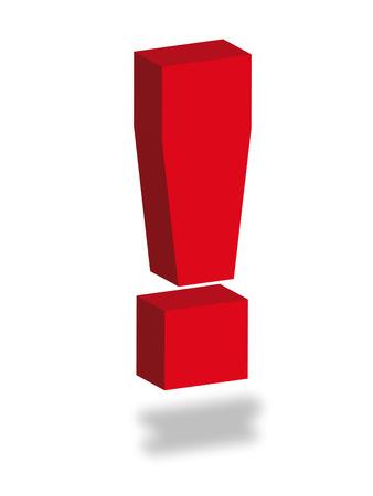 point d exclamation: Colorful exclamation exclamation comme symbole de