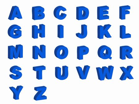 Alphabet letters in silhouette as symbol of language photo