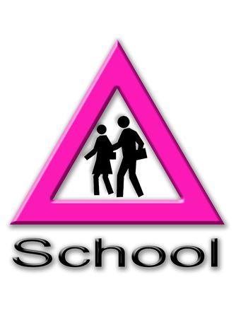 represent: Signal to represent pedestrian crossing to school