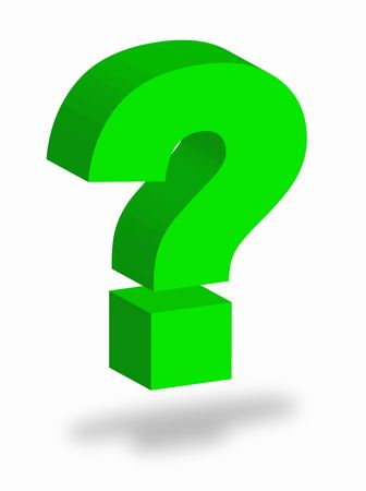 Colorful question mark as symbol of question Stock Photo