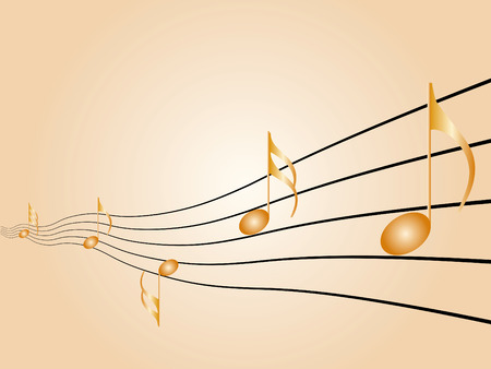 vibrations: Music symbols, signs and notes to represent musical world Illustration