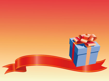 recurrence: Gift and decorations for this background for Christmas