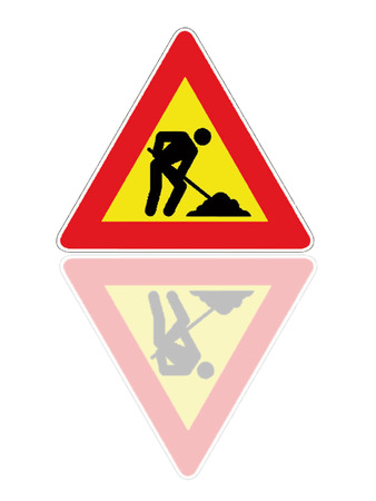 Work in progress signal as symbol of work Vector