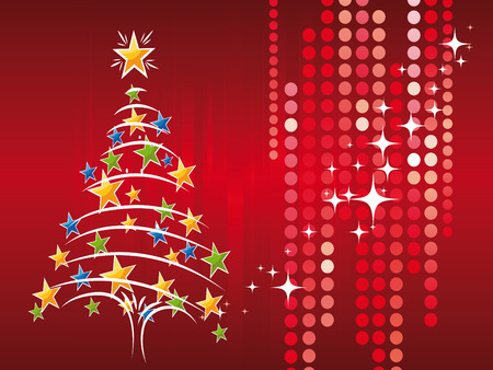 Christmas tree and decorations as symbol of Christmas time