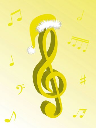 vibrations: Music notes as symbol of Christmas music and sound