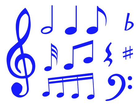 Different kind of music notes as symbol of sheet music Stock Photo - 5980536