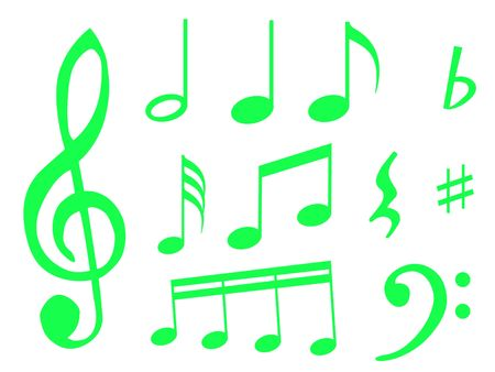 Different kind of music notes as symbol of sheet music Stock Photo - 6133332