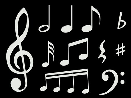 Different kind of music notes as symbol of sheet music Stock Photo - 6366847